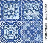 ceramic tiles azulejo portugal. ...   Shutterstock .eps vector #1638724255