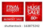 final clearance blowout banners ... | Shutterstock .eps vector #163875242