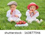 Little Boy And Girl In Russian...
