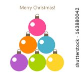 Christmas Baubles Tree Card....