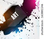 abstract modern frame for... | Shutterstock .eps vector #163881146