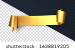 realistic gold curved ribbon... | Shutterstock .eps vector #1638819205