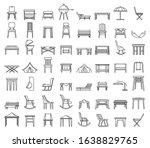 outdoor garden furniture icons... | Shutterstock .eps vector #1638829765