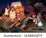 hansel and gretel near the...   Shutterstock .eps vector #1638842875