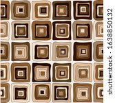 seamless chocolate brown square ... | Shutterstock . vector #1638850132