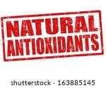 natural antioxidants grunge... | Shutterstock .eps vector #163885145