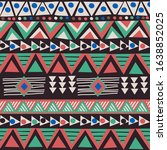 african colorful ethnic motifs... | Shutterstock . vector #1638852025