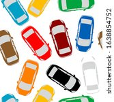 aerial view parking with lots... | Shutterstock . vector #1638854752