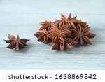 Star Anise Close Up On A Wooden ...