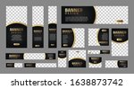 set of luxury banners in... | Shutterstock .eps vector #1638873742