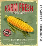 Vintage Farm Fresh Corncob...