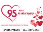 95 years anniversary logo... | Shutterstock .eps vector #1638897358