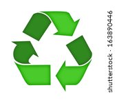 recycling symbol. | Shutterstock . vector #163890446