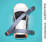 the concept of safety in a car. ... | Shutterstock .eps vector #1638907945