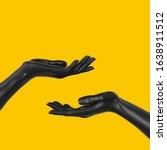 Black Beautiful Woman's Hand...