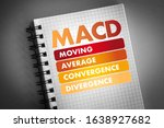 Small photo of MACD - Moving Average Convergence Divergence acronym, business concept background