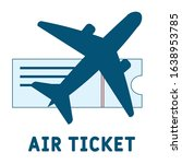 air ticket logo . simple...