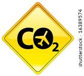 conceptual warning sign  ... | Shutterstock .eps vector #16389574