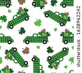 Checkered Green Truck And ...