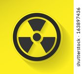 sign radiation flat icon design | Shutterstock . vector #163897436