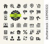 Web Icon Set.  Real Estate ...