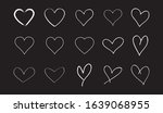 white heart contour vector....   Shutterstock .eps vector #1639068955