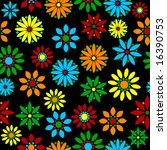floral seamless tile | Shutterstock .eps vector #16390753