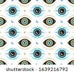 evil eyes seamless pattern.... | Shutterstock .eps vector #1639216792