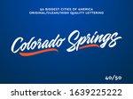 colorado springs  usa hand made ...   Shutterstock .eps vector #1639225222