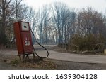 An Old Abandoned Lone Rusty Gas ...