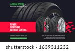 Tire Shop Vector Banner Of Car...
