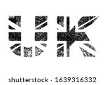 united kingdom flag in letters  ... | Shutterstock .eps vector #1639316332