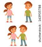 cute cartoon kids  either a...   Shutterstock .eps vector #163935788