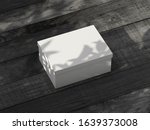 white carton box mockup on... | Shutterstock . vector #1639373008