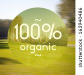 100  organic poster ... | Shutterstock . vector #163940486