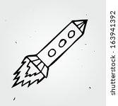 hand drawn rocket | Shutterstock .eps vector #163941392