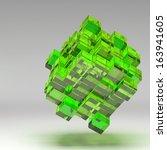 3d illustration basic geometric ...   Shutterstock . vector #163941605