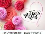 happy mothers day vector... | Shutterstock .eps vector #1639444048