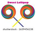 sweet colorful lollipop on... | Shutterstock .eps vector #1639456138
