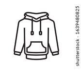 hoodie jacket icon in trendy...
