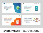 page template of mobile payment.... | Shutterstock .eps vector #1639488082