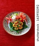authentic thai cuisine with... | Shutterstock . vector #163950392