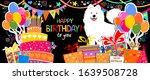 happy birthday banner. greeting ... | Shutterstock .eps vector #1639508728