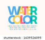 transparent watercolor font.... | Shutterstock .eps vector #1639526095