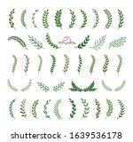set of green silhouette tree... | Shutterstock .eps vector #1639536178