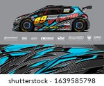 racing car wrap decal graphic...   Shutterstock .eps vector #1639585798