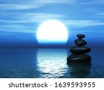 3d render of a landscape with... | Shutterstock . vector #1639593955