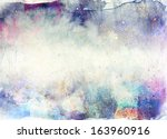abstract ink painting with... | Shutterstock . vector #163960916