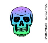 space skull color gradient white   Shutterstock . vector #1639614922