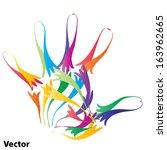 vector concept or conceptual... | Shutterstock .eps vector #163962665